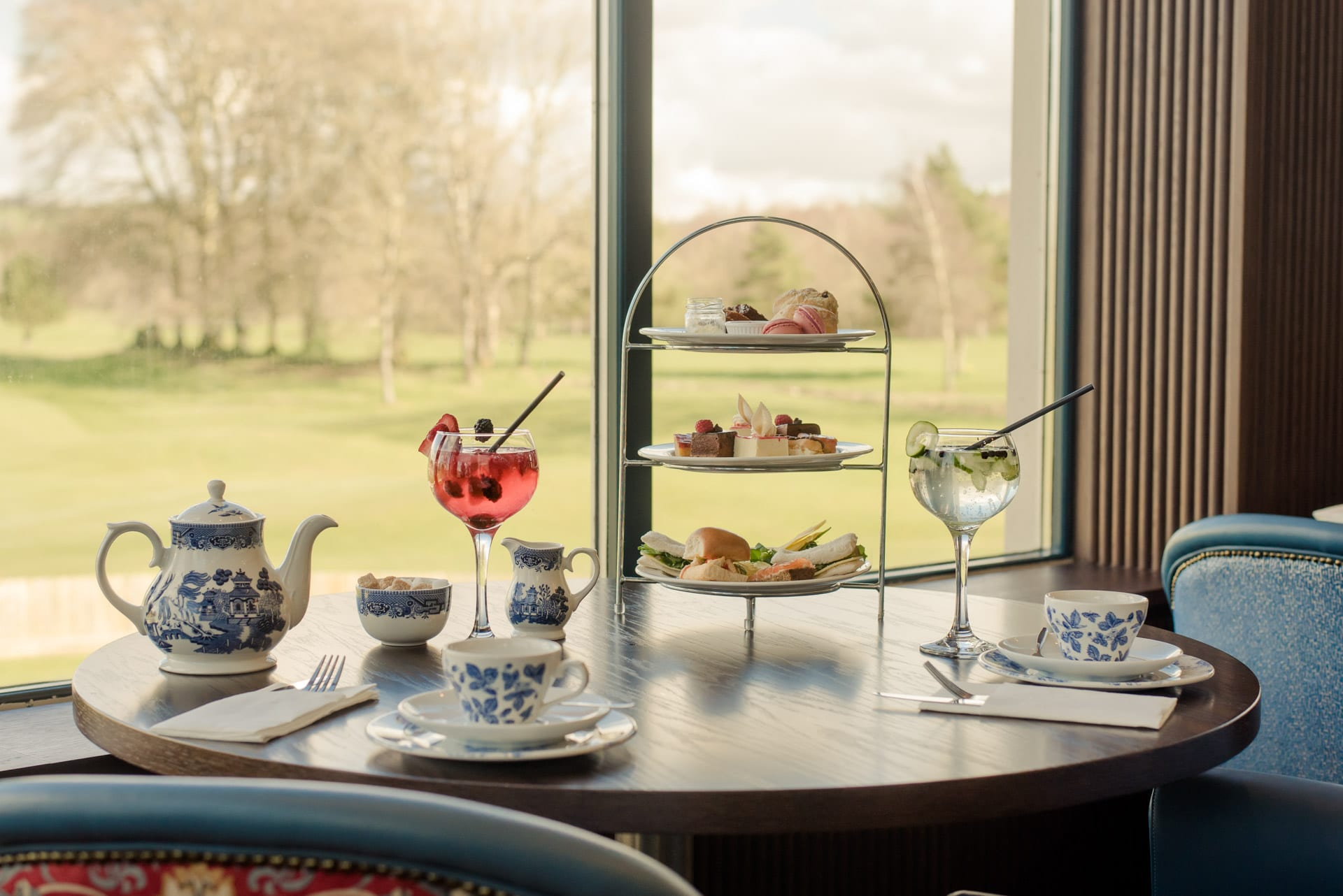 Tulfarris Hotel & Golf Resort Afternoon Tea with View